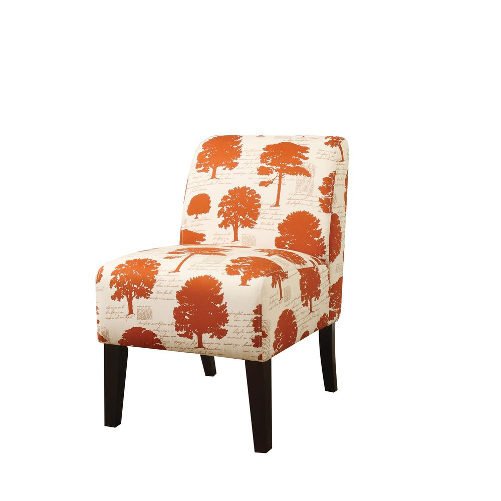 Ollano Accent Chair, Floral Fabric. Picture 4