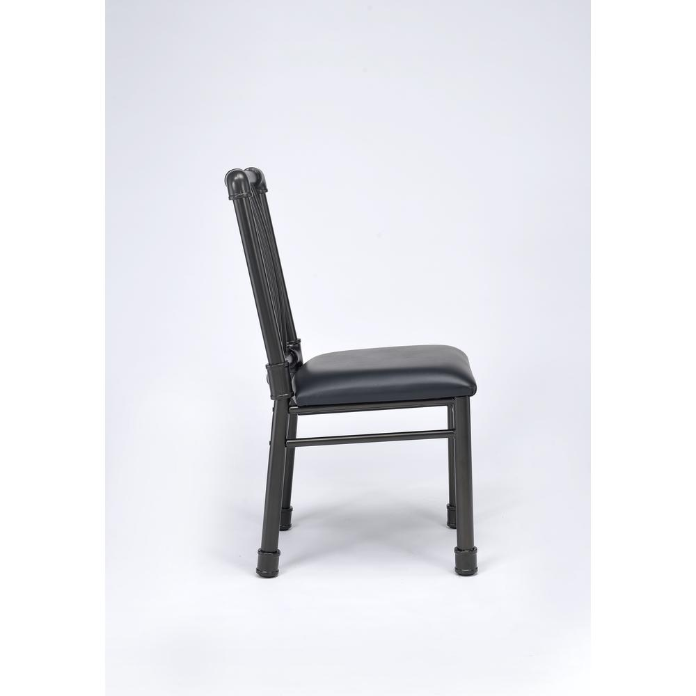 Caitlin Side Chair (Set-2), Black PU & Black. Picture 4