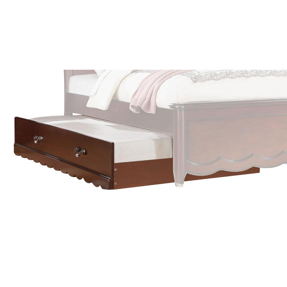 Cecilie Twin Bed, Light Pink PU & Cherry (1Set/3Ctn). Picture 3