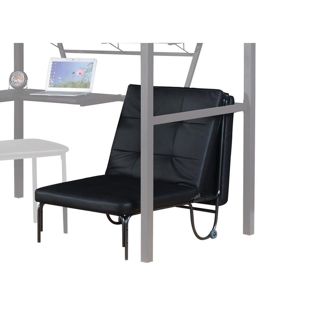 Senon Loft Bed w/Desk, Silver & Black. Picture 2