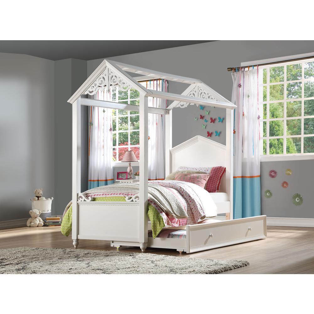 Rapunzel Twin Bed, White (1Set/2Ctn). Picture 3