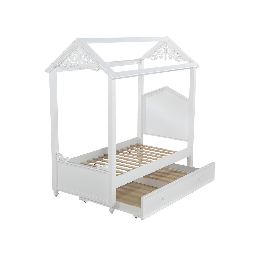 Rapunzel Twin Bed, White (1Set/2Ctn). Picture 1