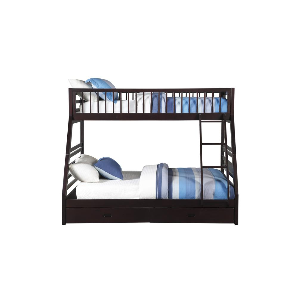 Jason XL Twin/Queen Bunk Bed & Drawers, Espresso (1Set/2Ctn). Picture 3