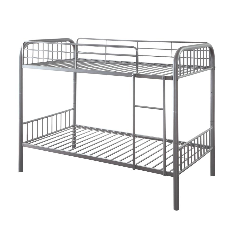 Bristol Twin/Twin Bunk Bed, Gunmetal. Picture 1