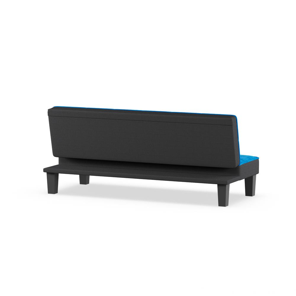 Hamar Adjustable Sofa, Blue Flannel Fabric. Picture 5