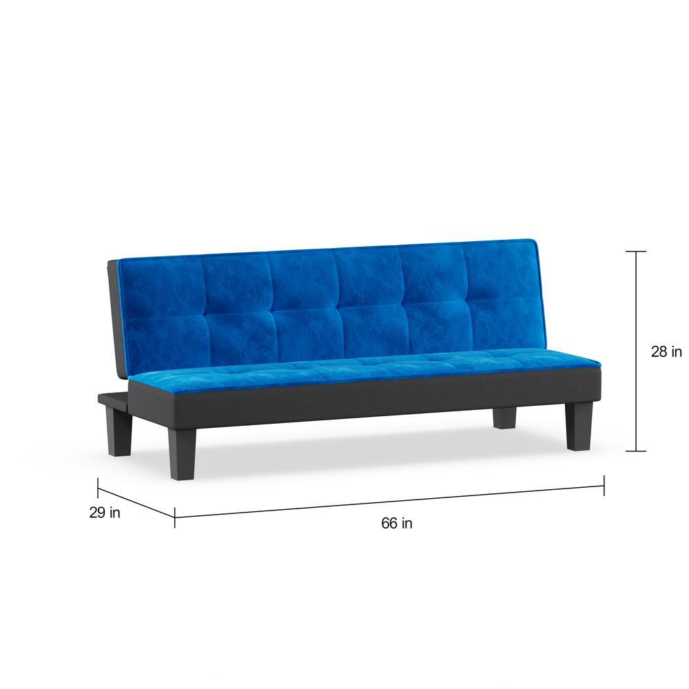 Hamar Adjustable Sofa, Blue Flannel Fabric. Picture 6