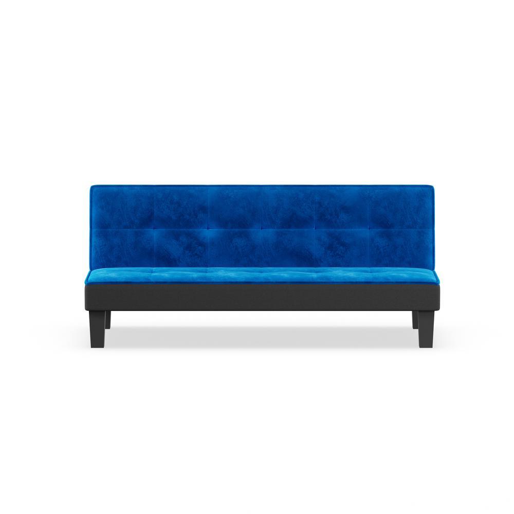 Hamar Adjustable Sofa, Blue Flannel Fabric. Picture 7
