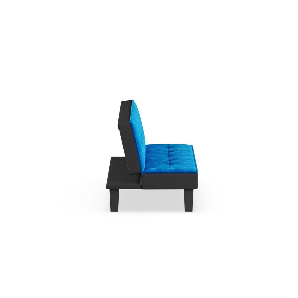 Hamar Adjustable Sofa, Blue Flannel Fabric. Picture 8