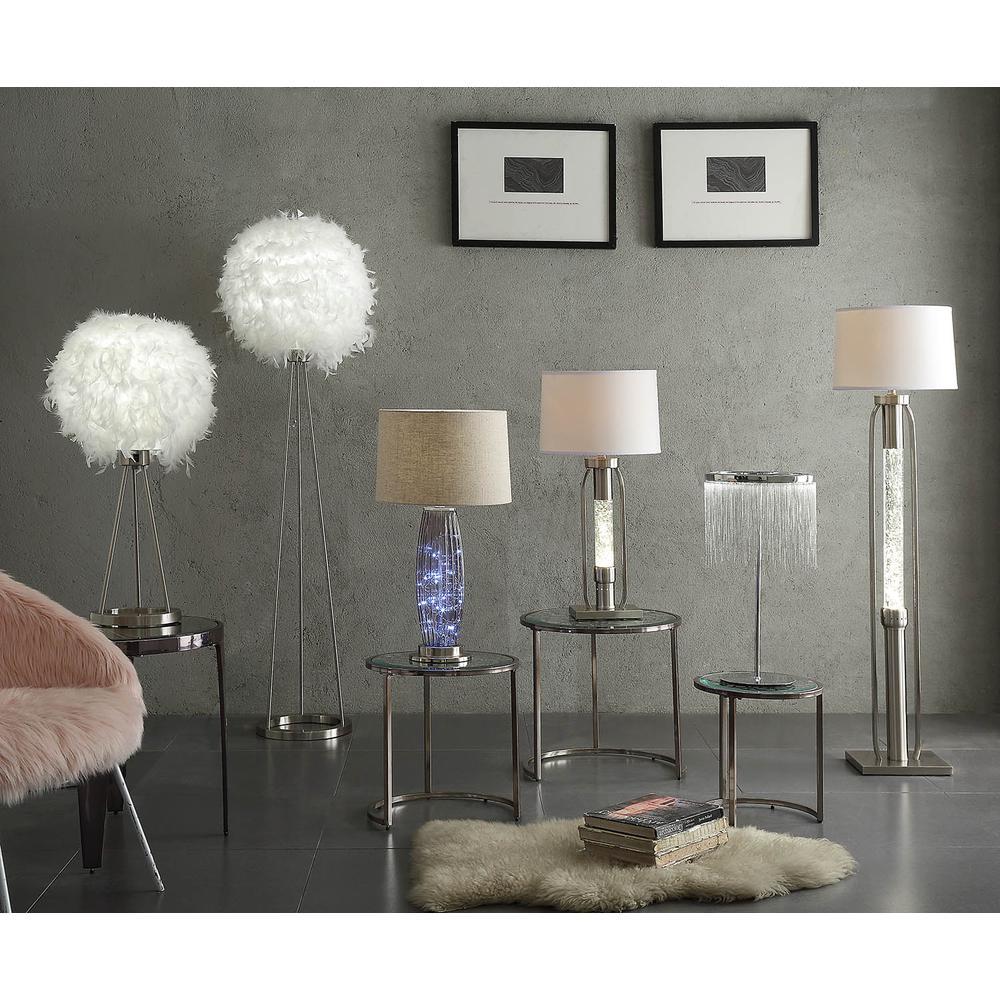 Aurinda Table Lamp, Sandy Nickel. Picture 1