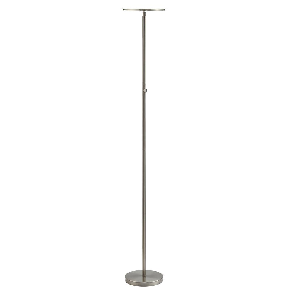 Massey Floor Lamp, Brushed Nickel. The main picture.
