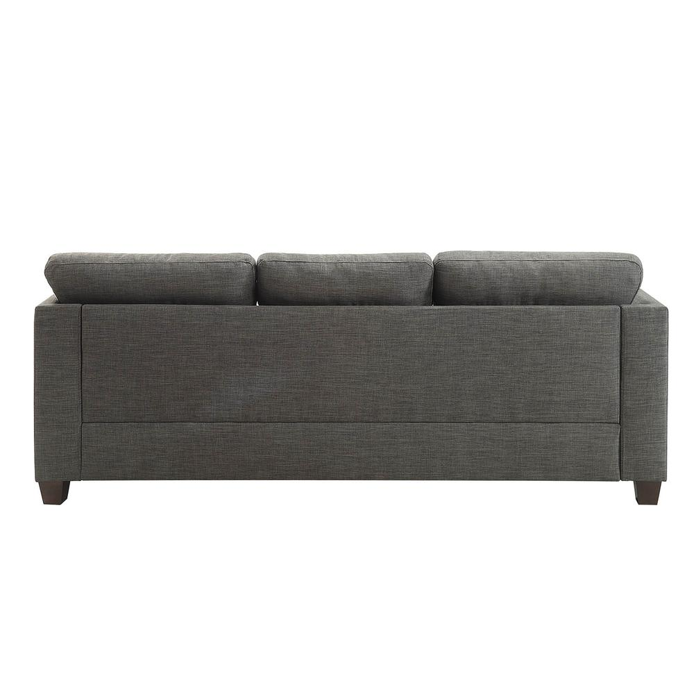 Laurissa Sofa w/4 Pillows, Light Charcoal Linen. Picture 2