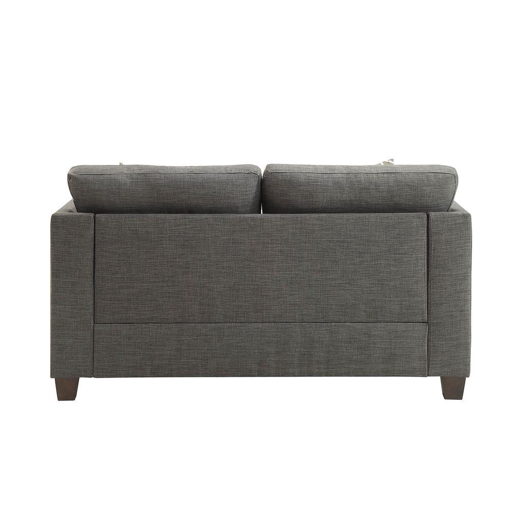 Laurissa Loveseat w/4 Pillows, Light Charcoal Linen. Picture 2