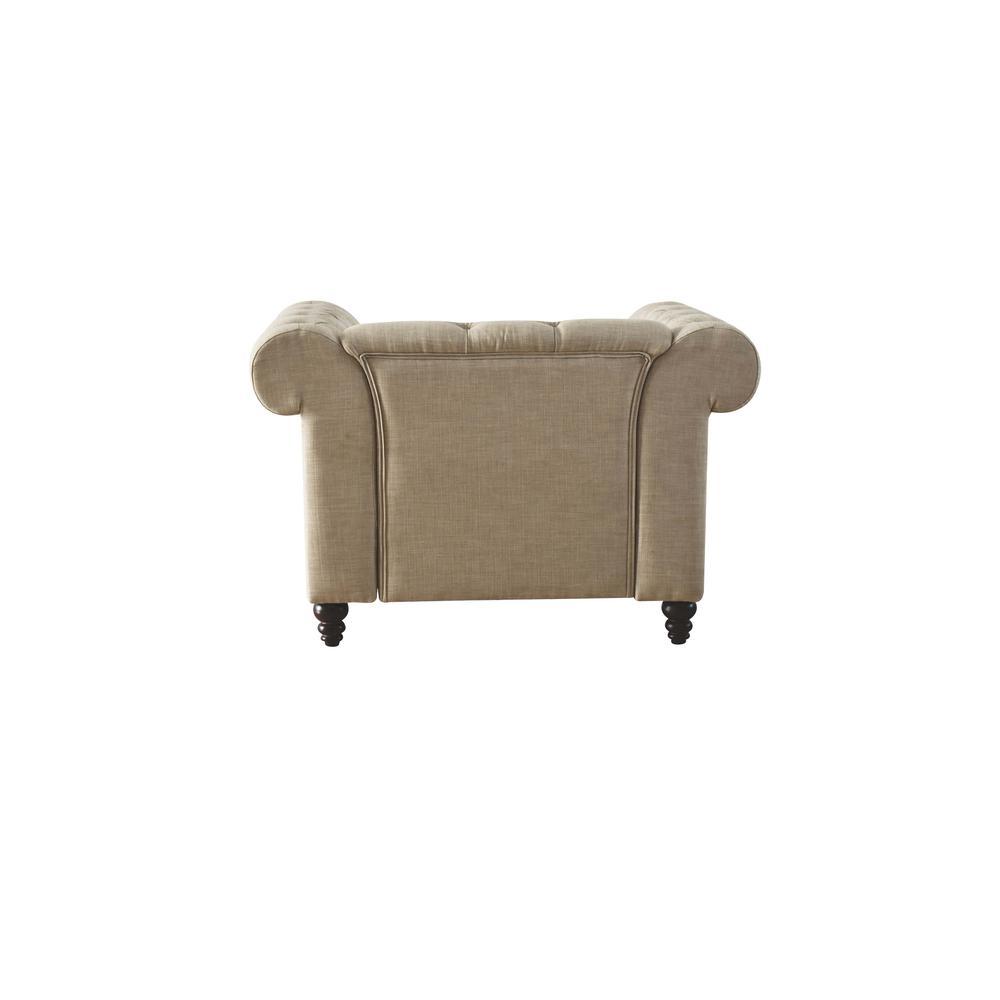 Aurelia Sofa w/2 Pillows, Beige Linen. Picture 11