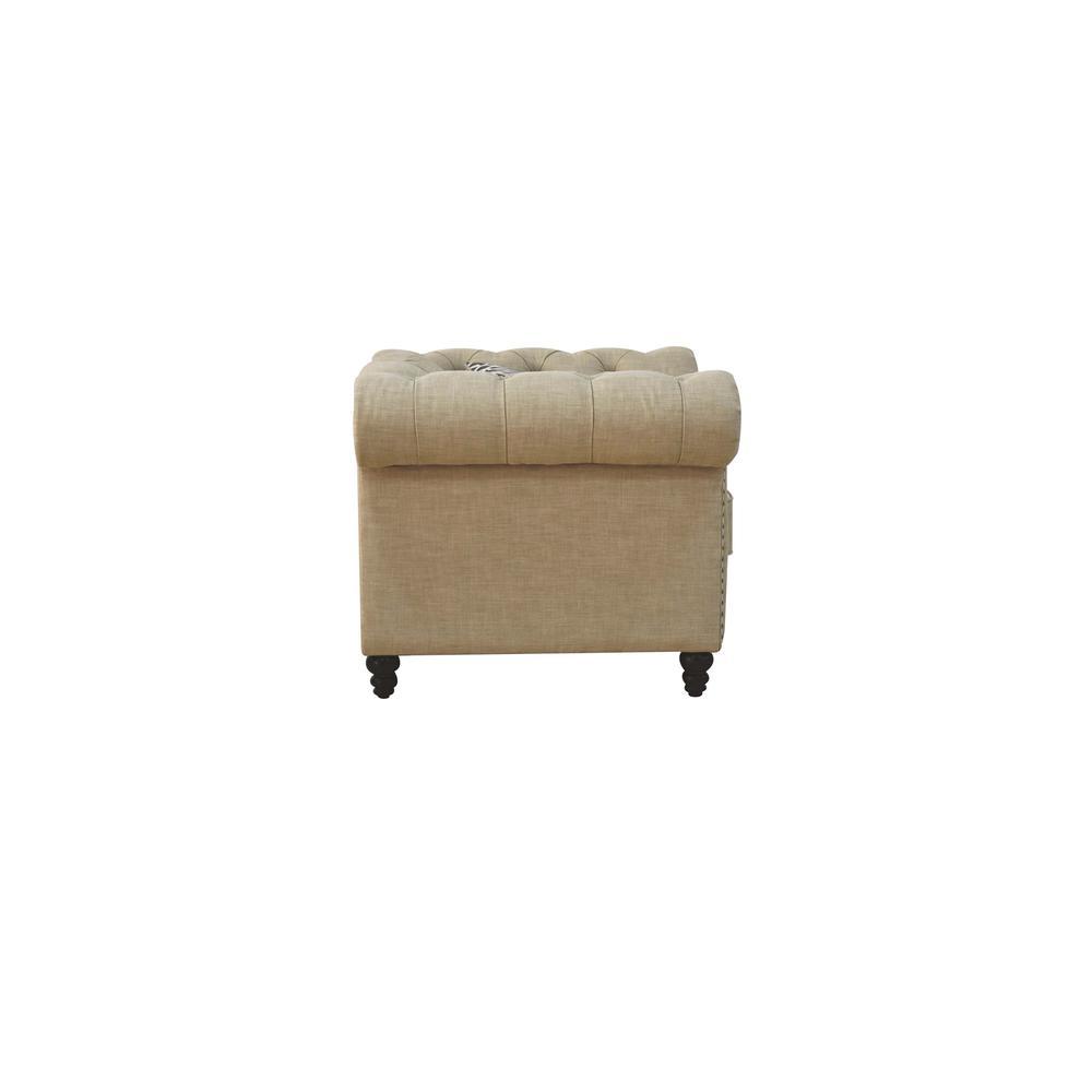 Aurelia Sofa w/2 Pillows, Beige Linen. Picture 13