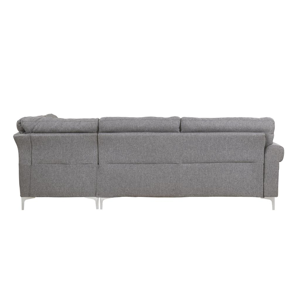 Melvyn Sectional Sofa, Gray Fabric. Picture 2