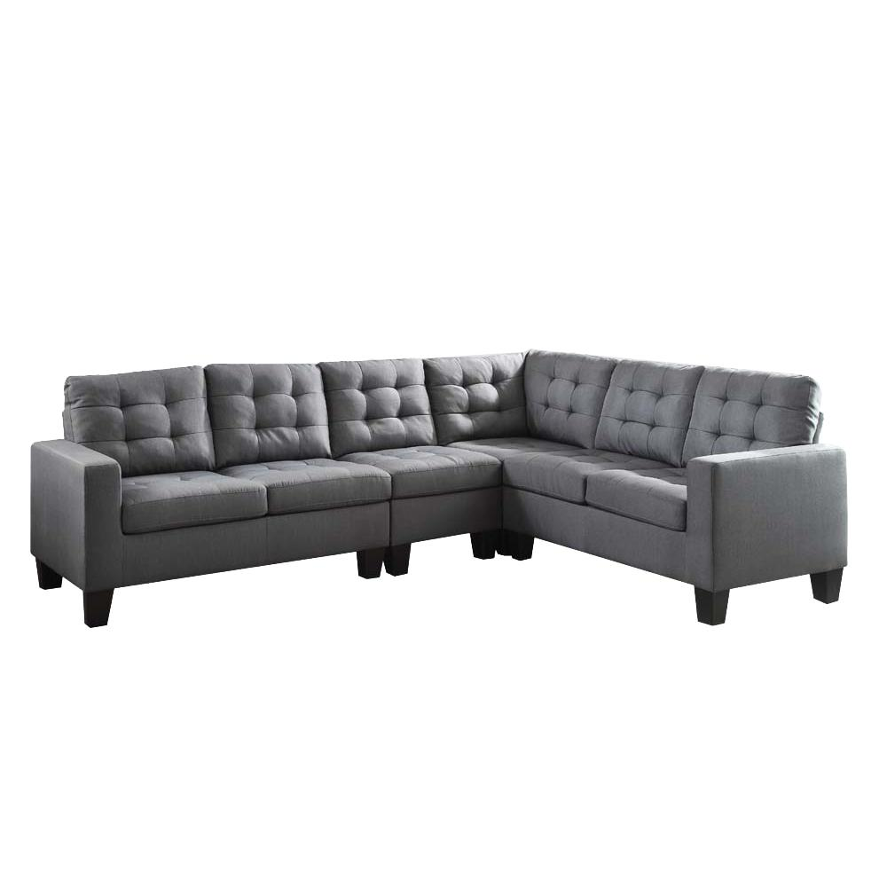 Earsom Sectional Sofa, Gray Linen (1Set/2Ctn). Picture 1