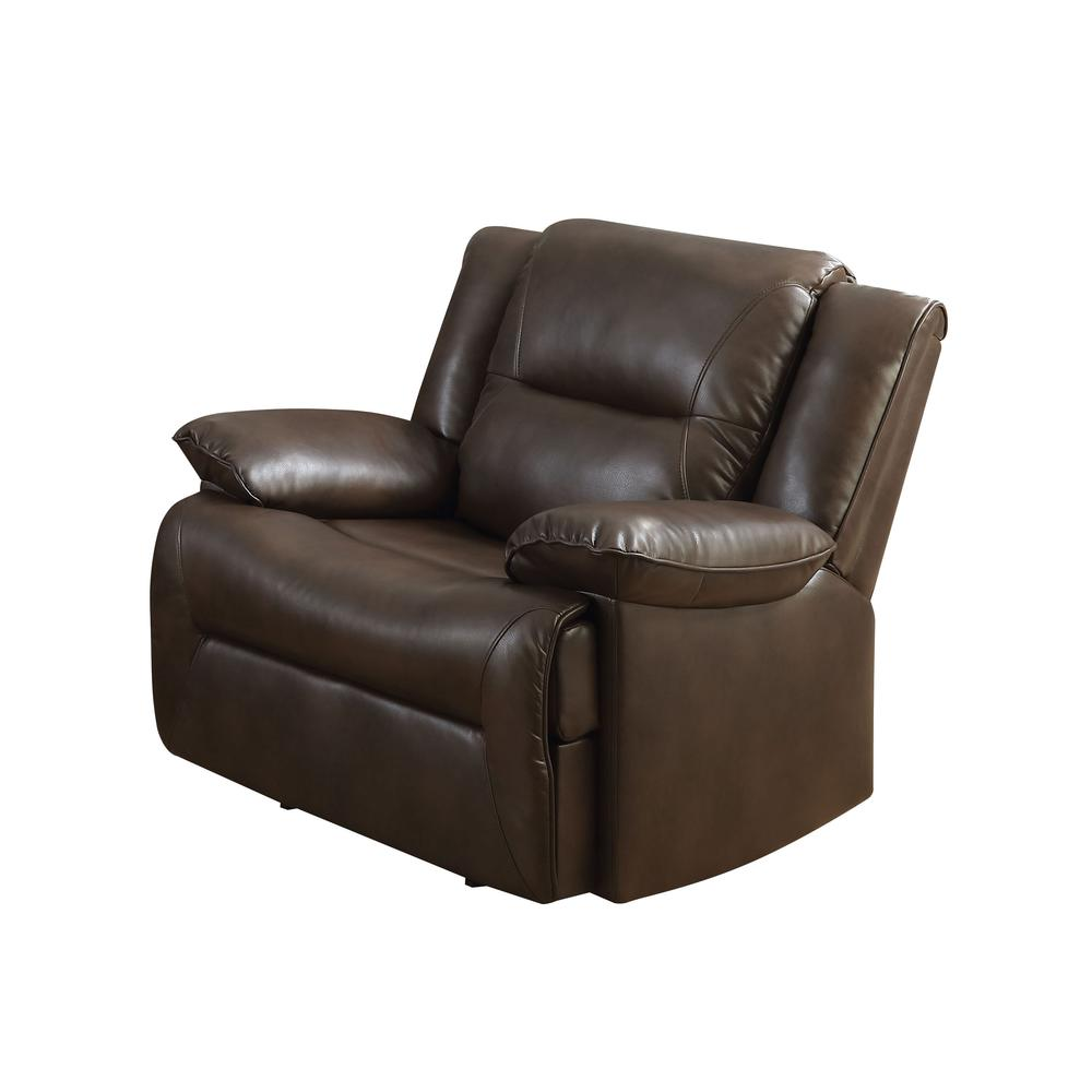 Romulus Glider Recliner, Espresso Leather-Aire Match. Picture 1