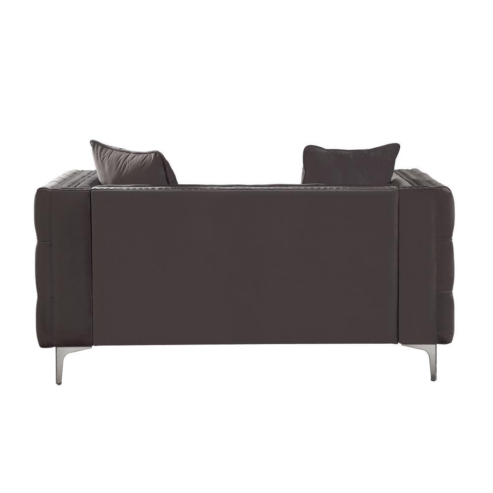 Gillian II Sofa w/3 Pillows, Dark Gray Velvet (1Set/3Ctn). Picture 8