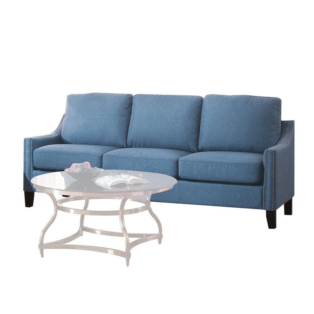 Zapata Sofa, Blue Linen. Picture 2