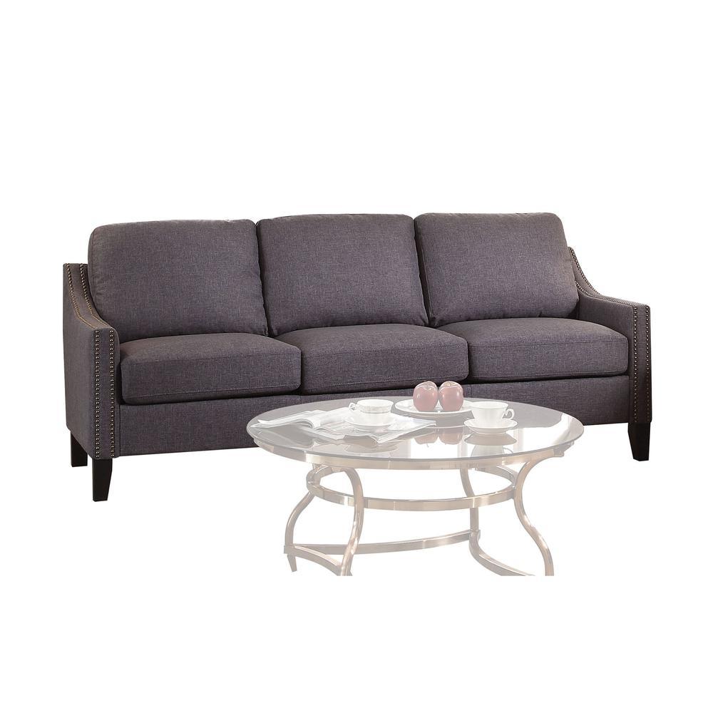 Zapata Sofa, Gray Linen. Picture 1