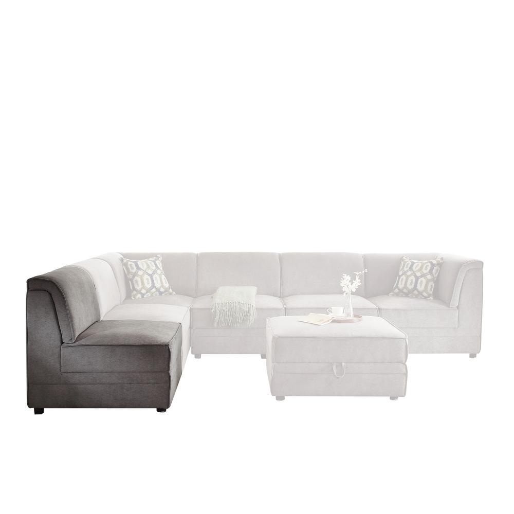 Bois Modular - Armless Chair, Gray Velvet. Picture 2