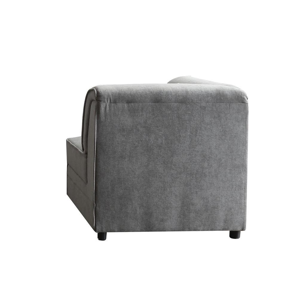 Bois Modular - Armless Chair, Gray Velvet. Picture 4