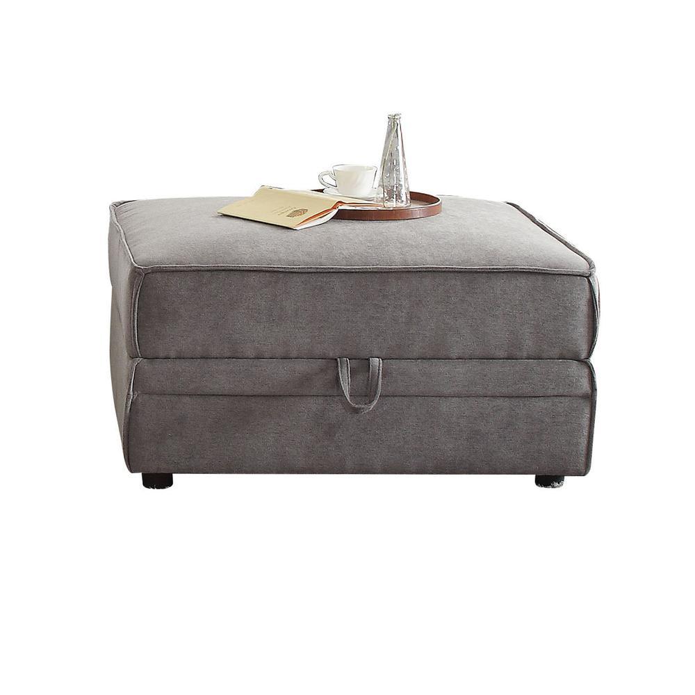 Bois Modular - Armless Chair, Gray Velvet. Picture 6
