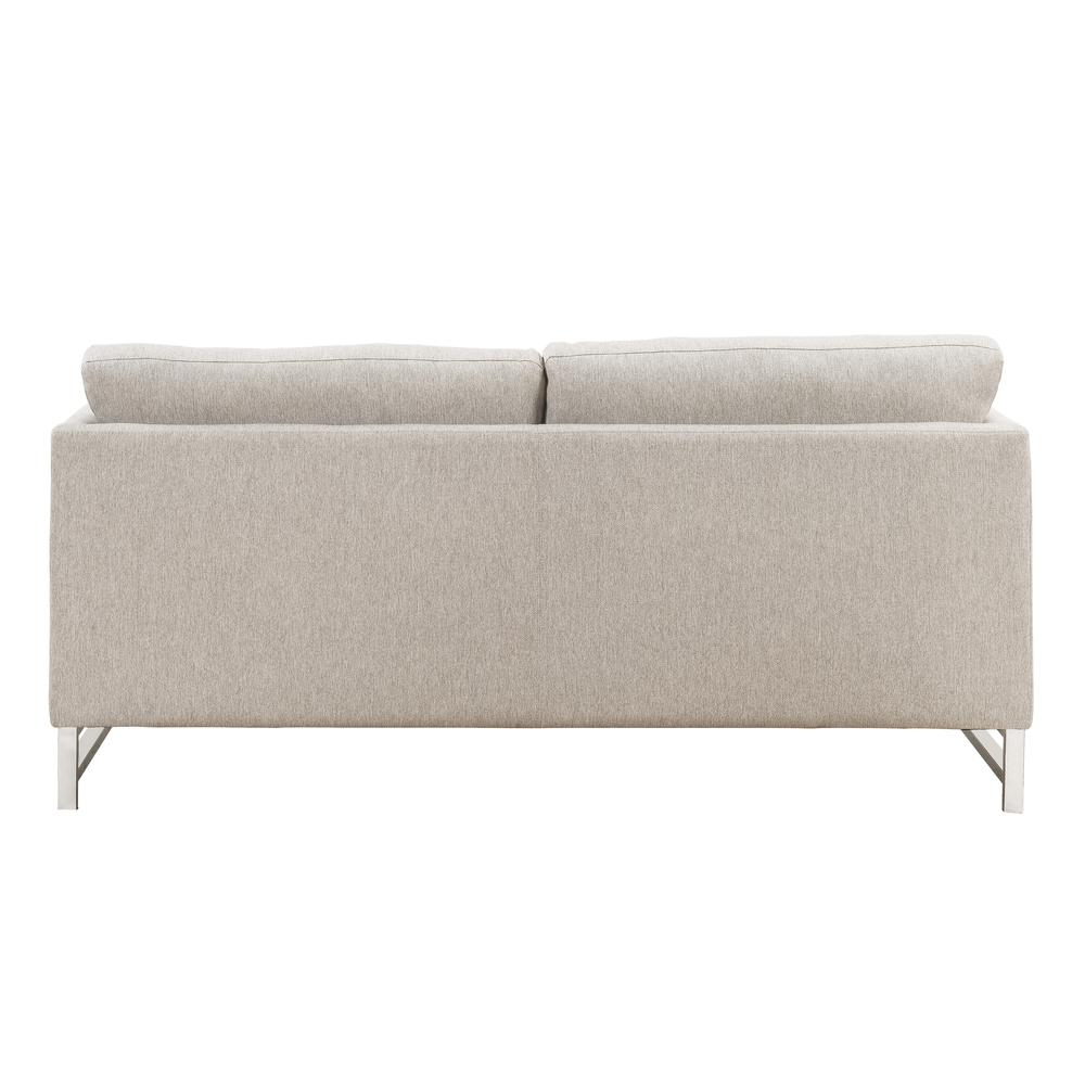 Varali Sofa w/2 Pillows, Beige Linen. Picture 2
