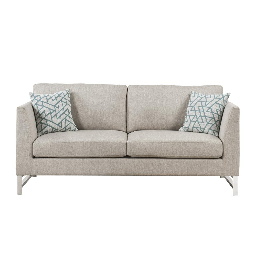 Varali Sofa w/2 Pillows, Beige Linen. Picture 3