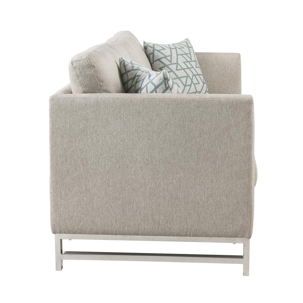 Varali Sofa w/2 Pillows, Beige Linen. Picture 5