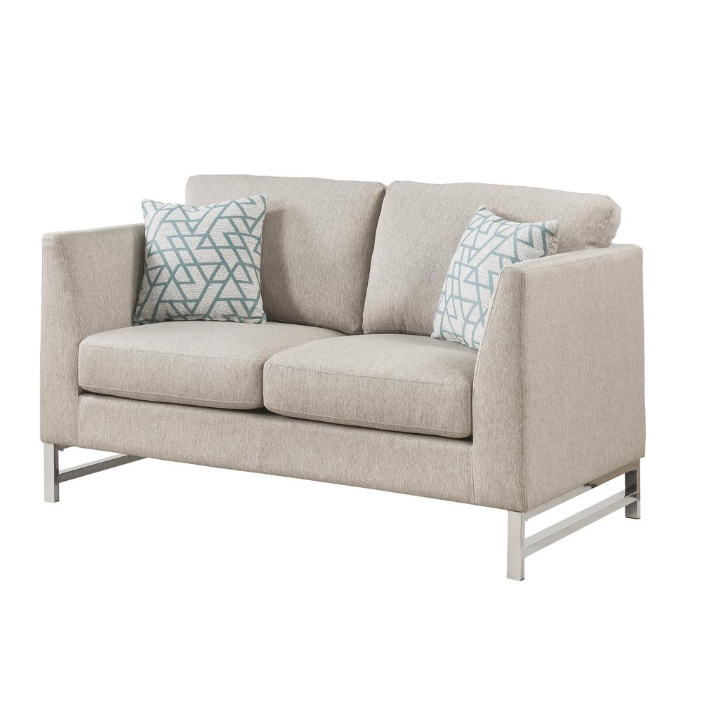 Varali Sofa w/2 Pillows, Beige Linen. Picture 6