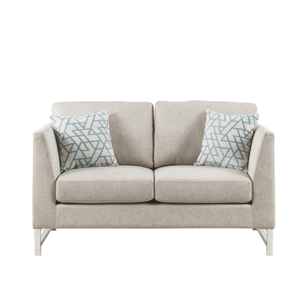 Varali Sofa w/2 Pillows, Beige Linen. Picture 8