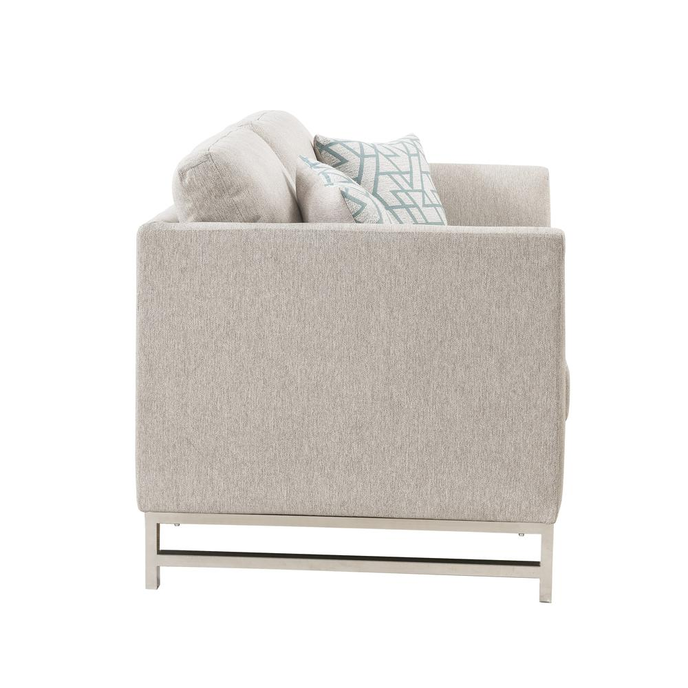 Varali Sofa w/2 Pillows, Beige Linen. Picture 9
