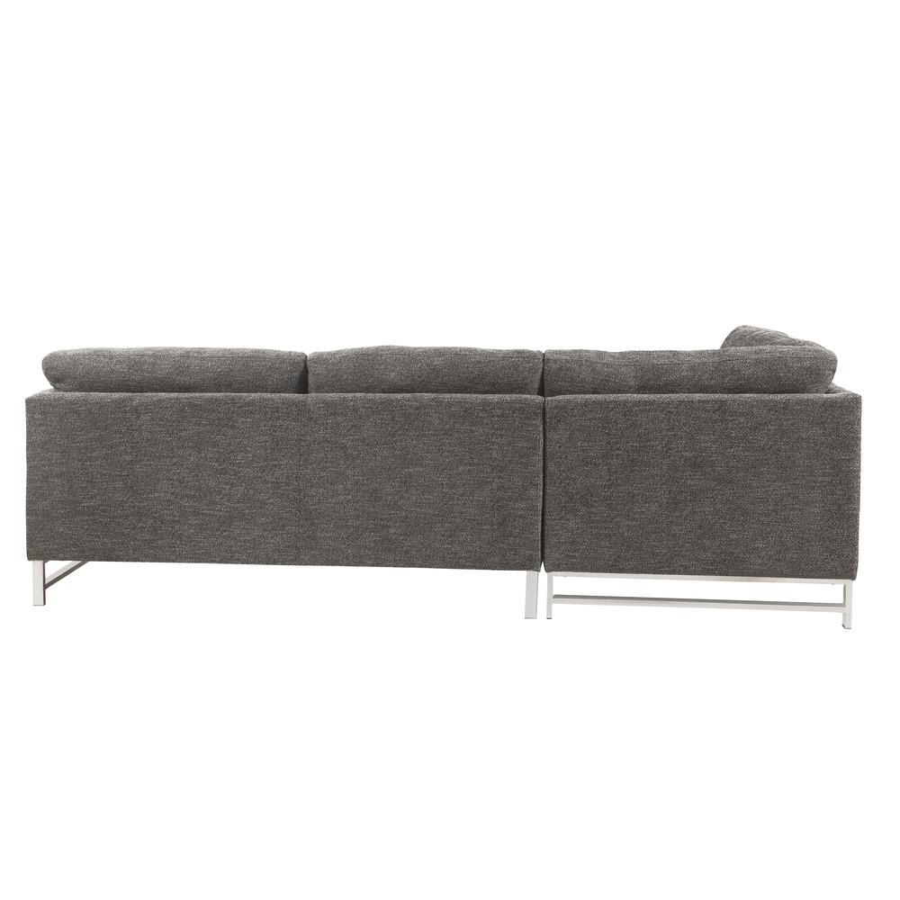 Varali Sectional Sofa, Gray Linen (1Set/2Ctn). Picture 2