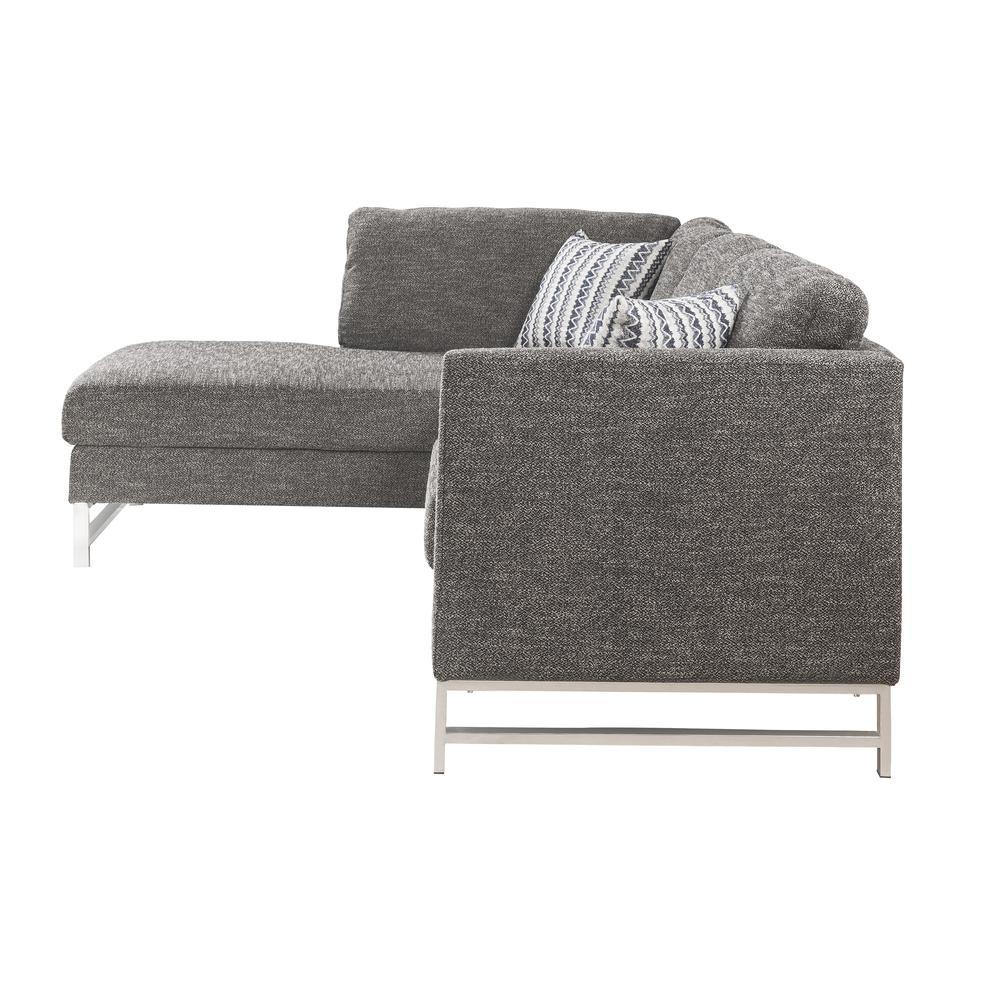 Varali Sectional Sofa, Gray Linen (1Set/2Ctn). Picture 5
