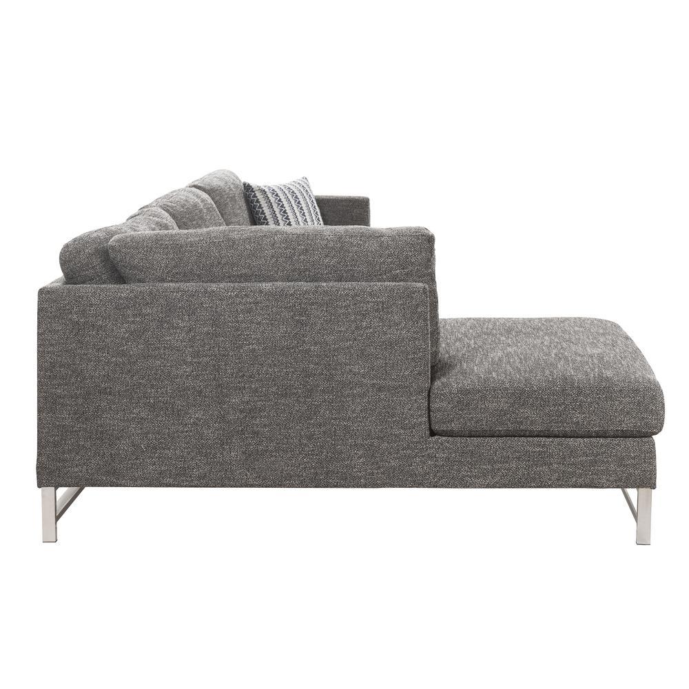 Varali Sectional Sofa, Gray Linen (1Set/2Ctn). Picture 6