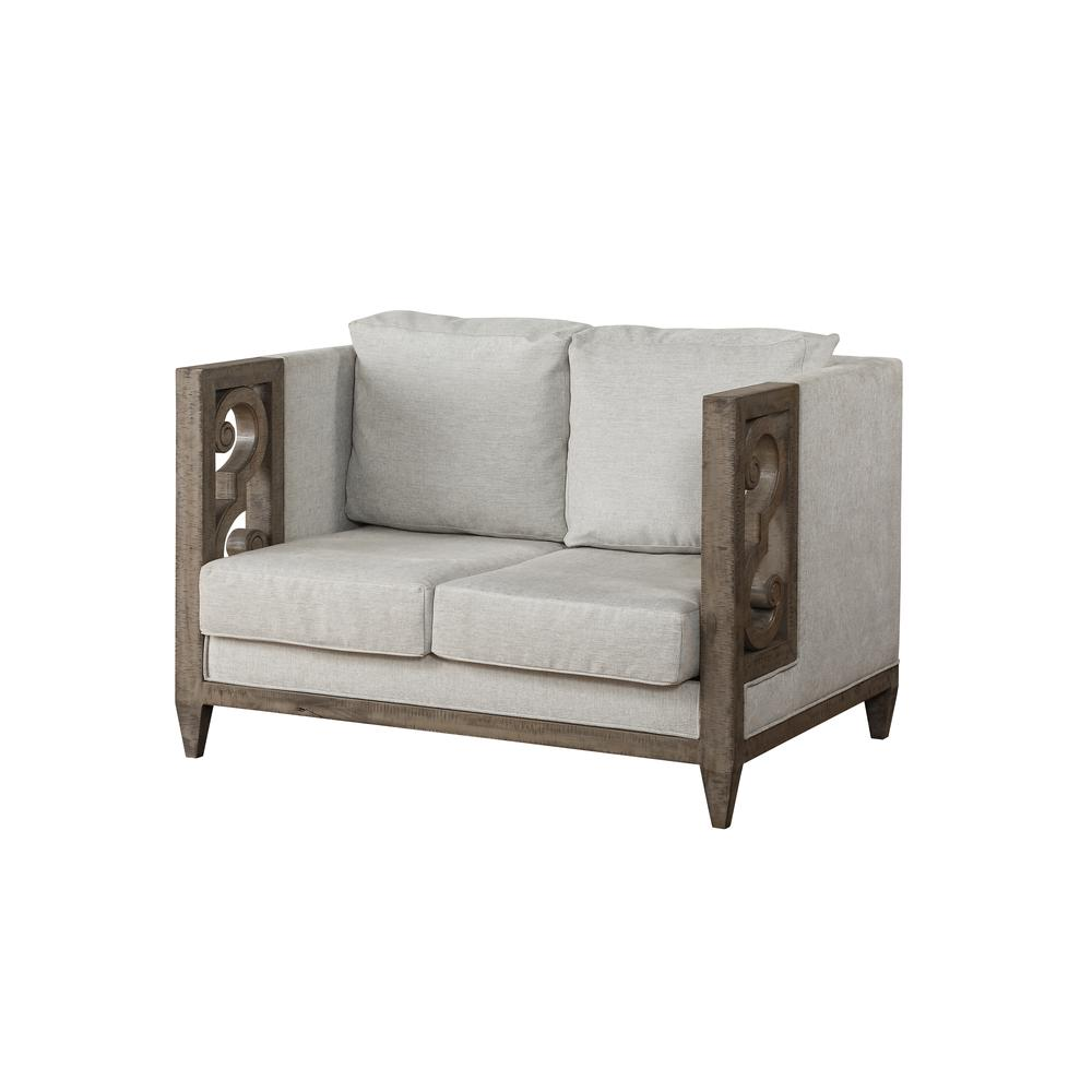 Artesia Loveseat, Fabric & Salvaged Natural. Picture 1