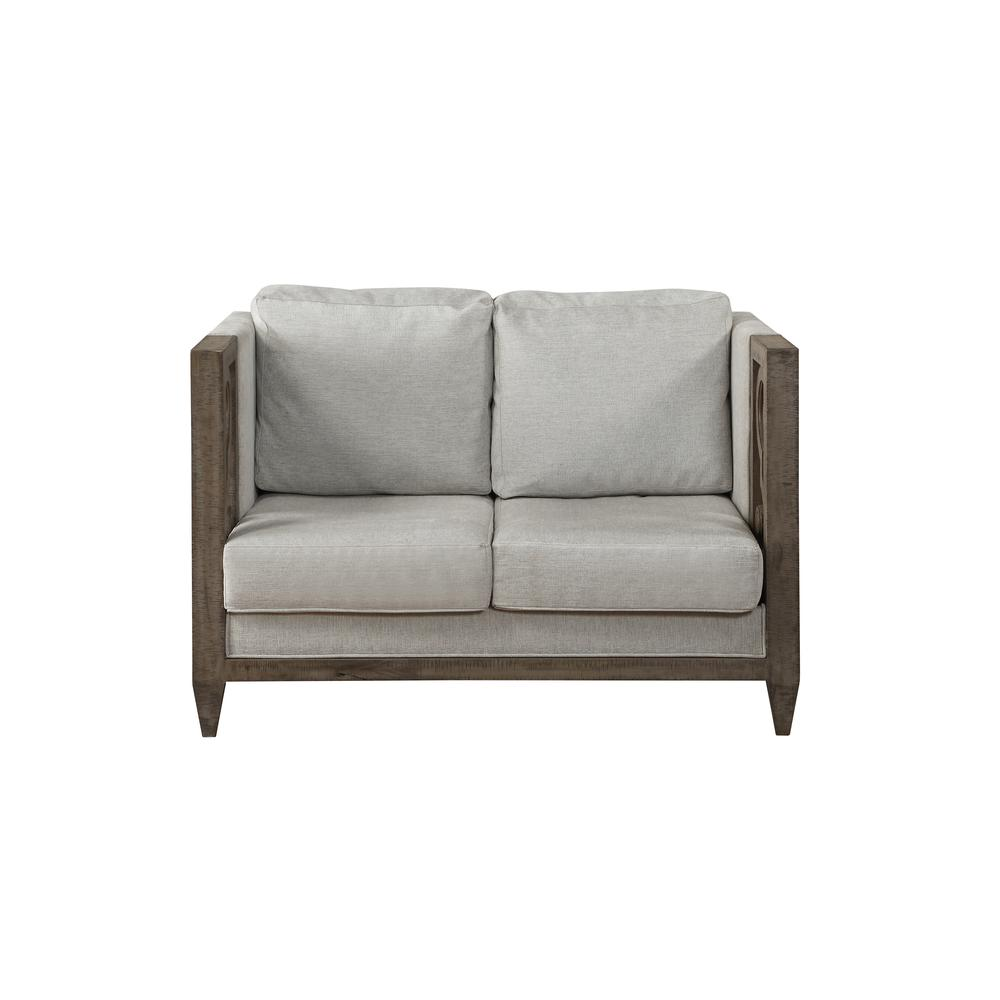Artesia Loveseat, Fabric & Salvaged Natural. Picture 3