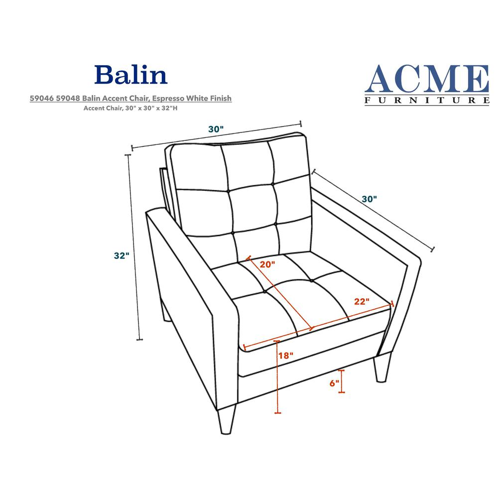 Balin Accent Chair, White PU. Picture 1