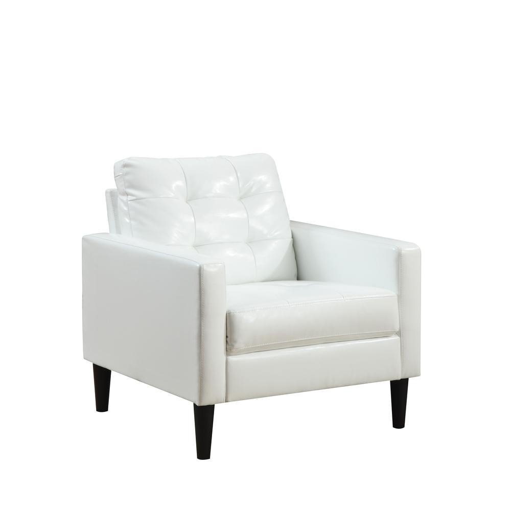 Balin Accent Chair, White PU. Picture 3