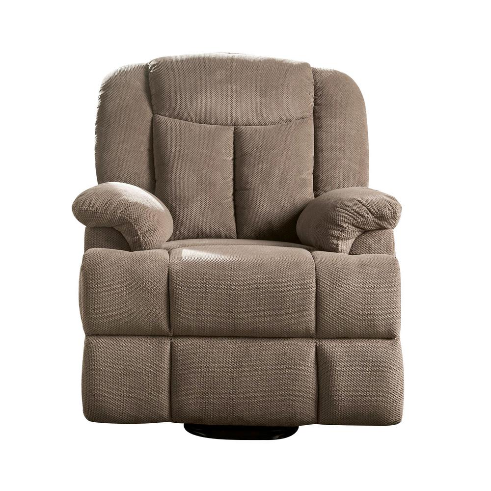 Ixia Recliner w/Power Lift & Massage, Light Brown Fabric. Picture 16