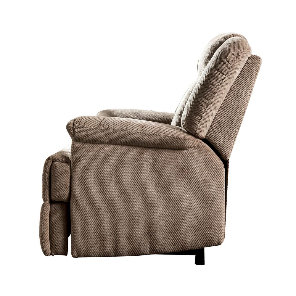 Ixia Recliner w/Power Lift & Massage, Light Brown Fabric. Picture 17