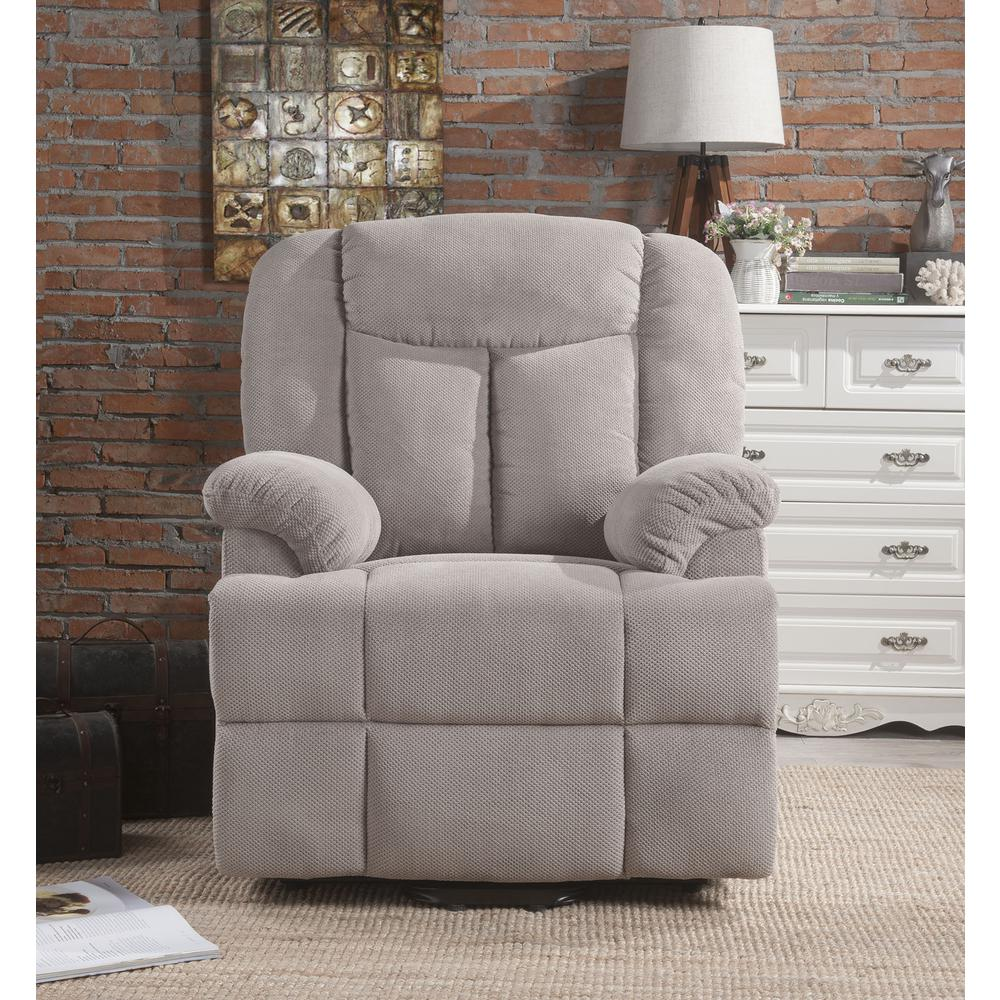 Ixia Recliner w/Power Lift & Massage, Light Brown Fabric. Picture 22