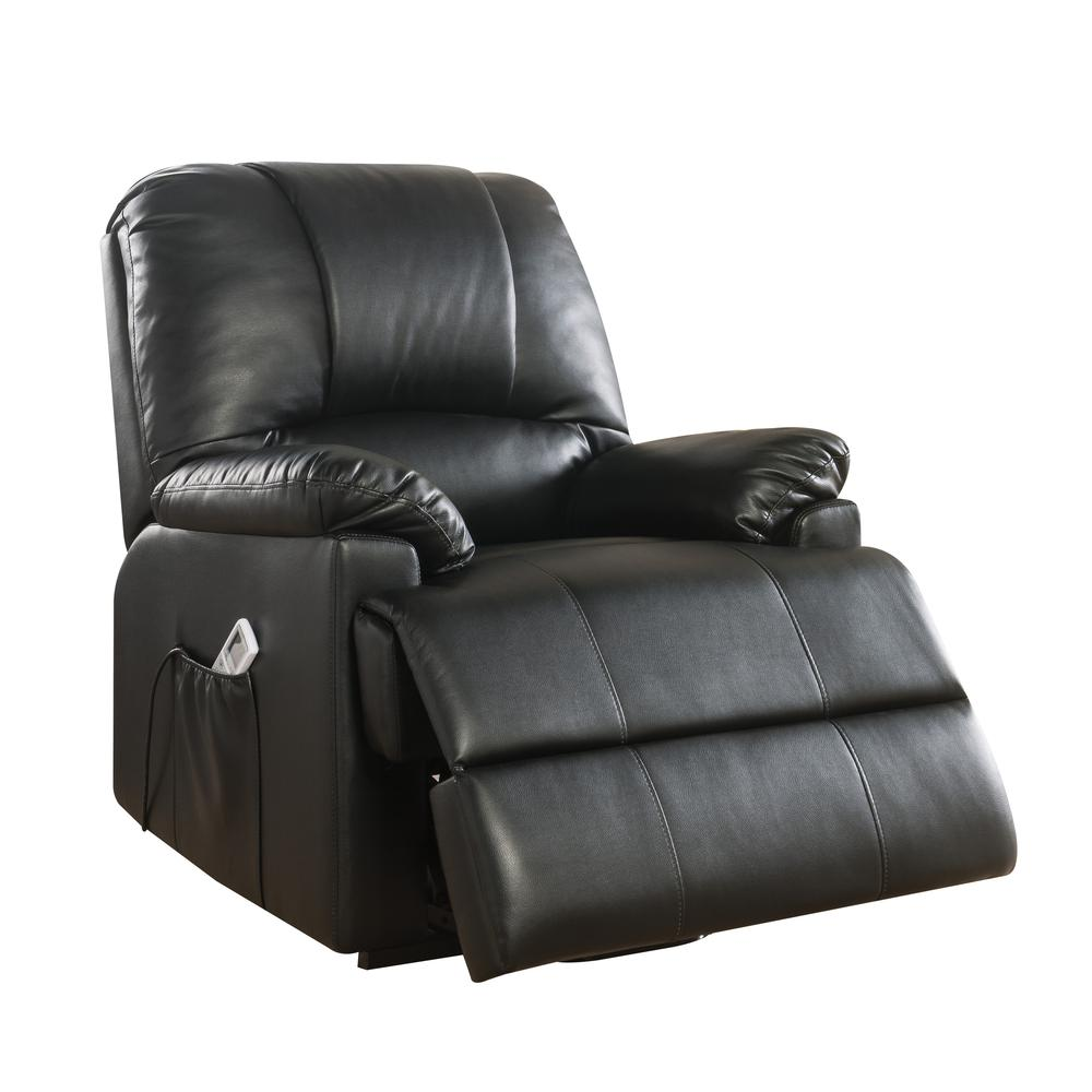 Ixora Recliner w/Power Lift & Massage, Black PU. Picture 4