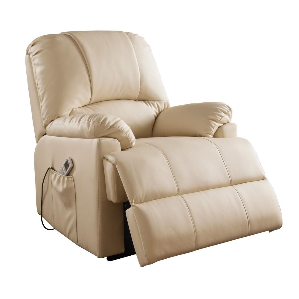Ixora Recliner w/Power Lift & Massage, Black PU. Picture 10