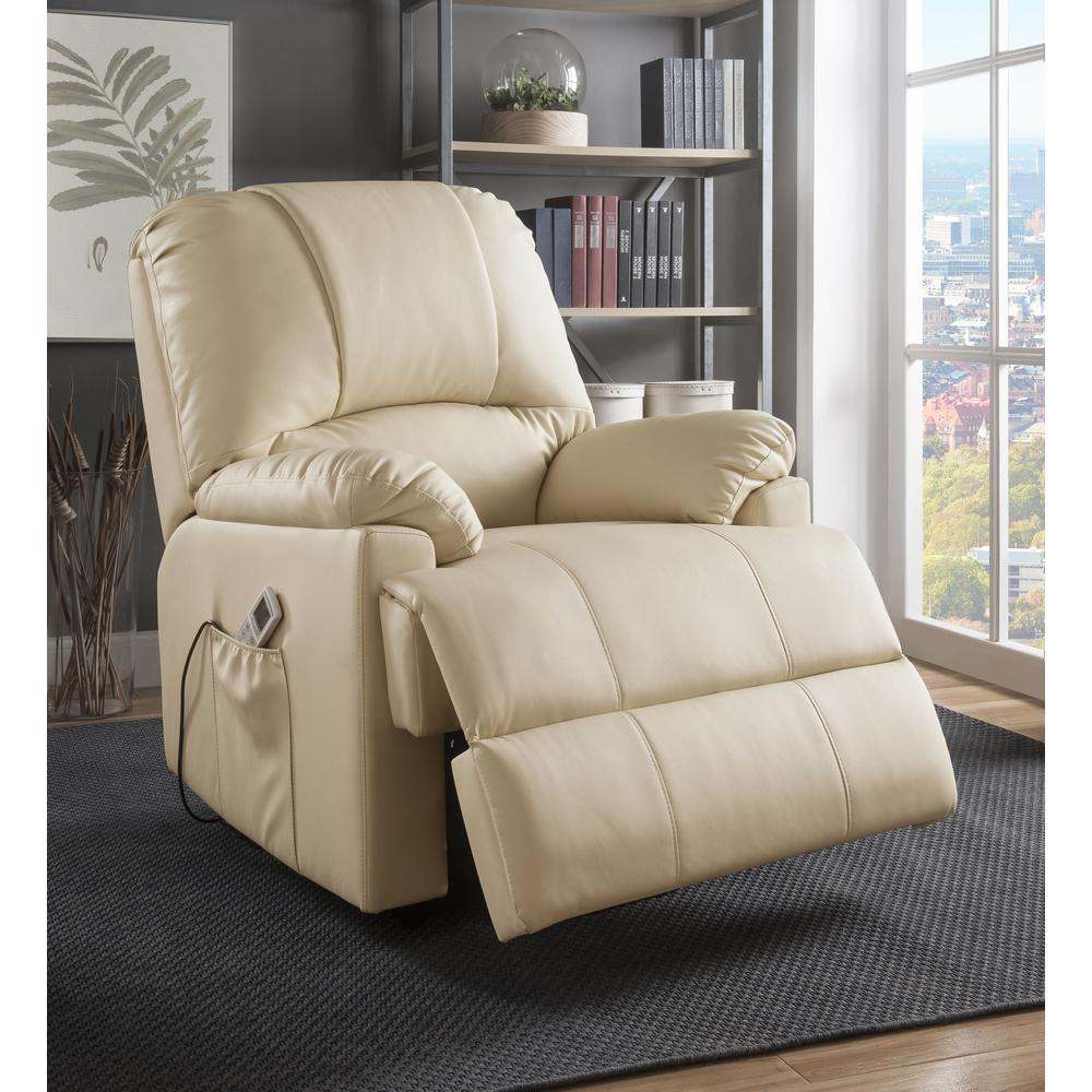 Ixora Recliner w/Power Lift & Massage, Black PU. Picture 12