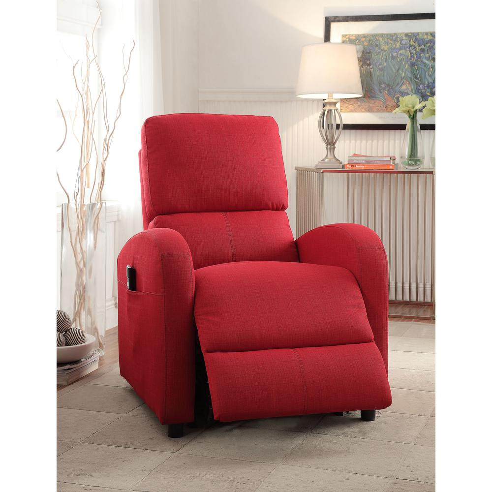 Croria Recliner w/Power Lift, Red Fabric. Picture 1