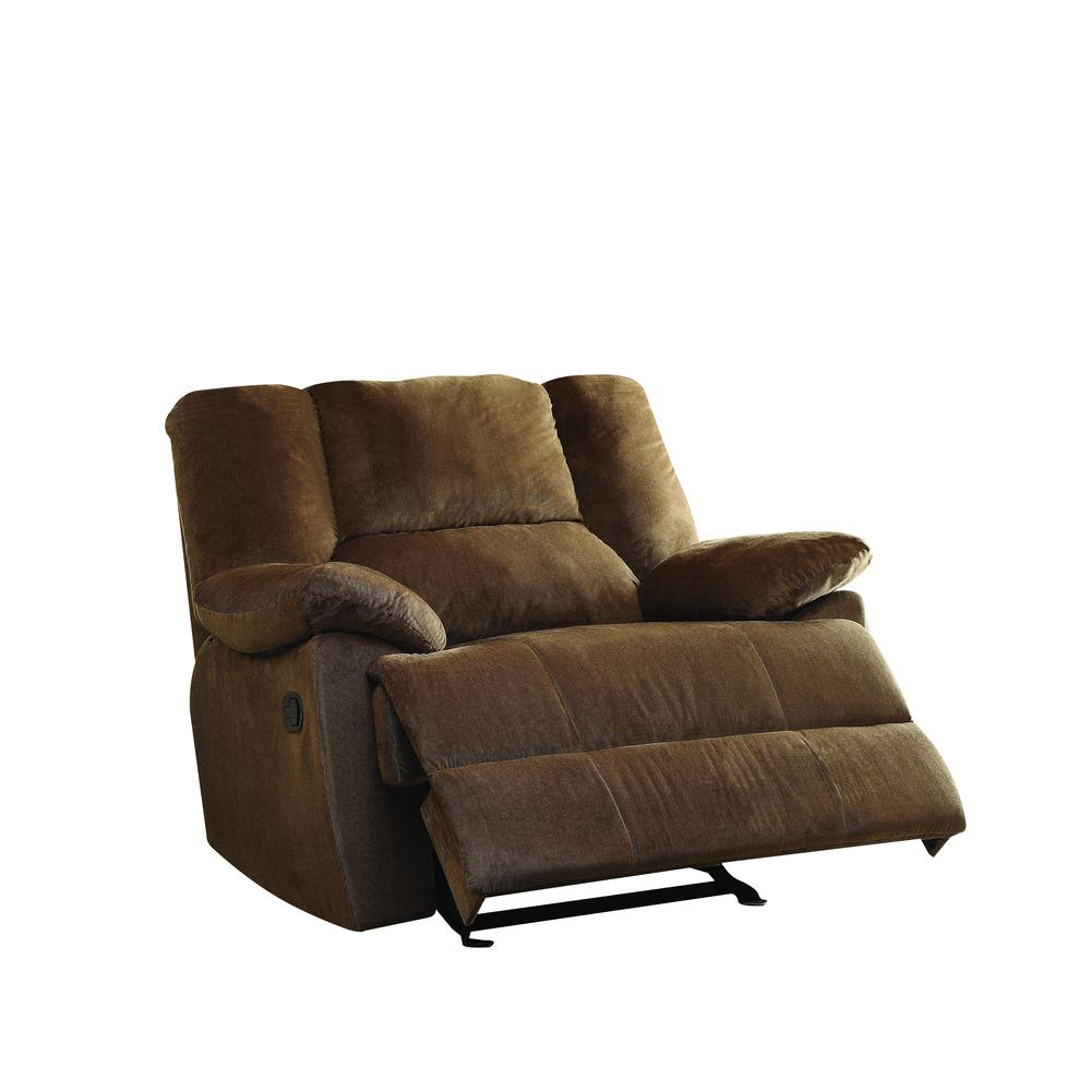 Oliver Oversized Glider Recliner, Chocolate Corduroy. Picture 1