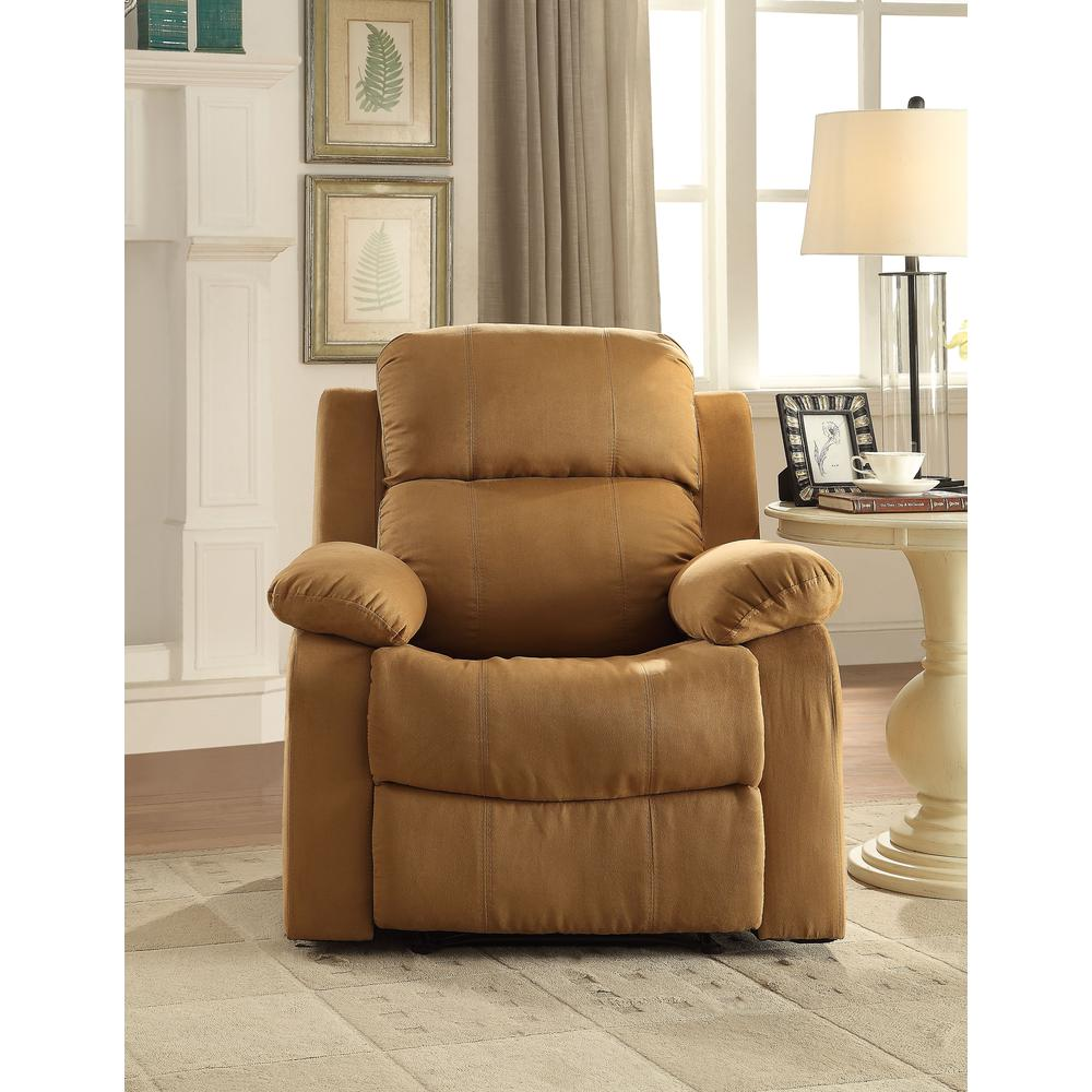 Parklon Recliner, Brown Microfiber. Picture 3