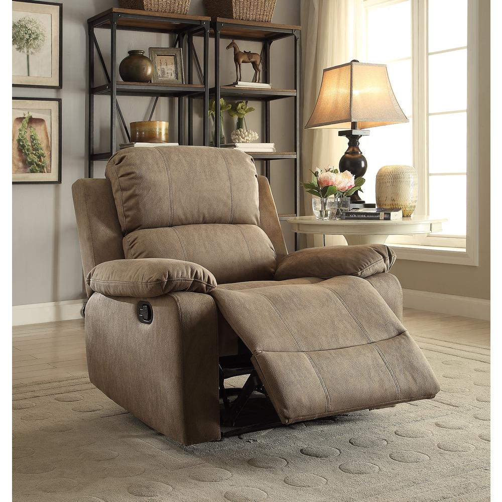Bina Recliner, Taupe Polished Microfiber. Picture 2